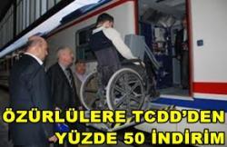 ÖZÜRLÜLERE TCDD'DEN YÜZDE 50 İNDİRİM