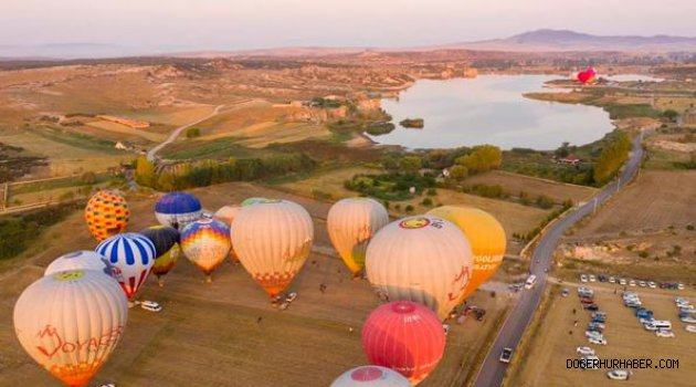 Döğer Emre Gölü balon festivali