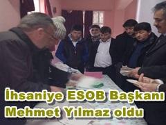 İhsaniye ESOB Başkanı Mehmet Yılmaz oldu