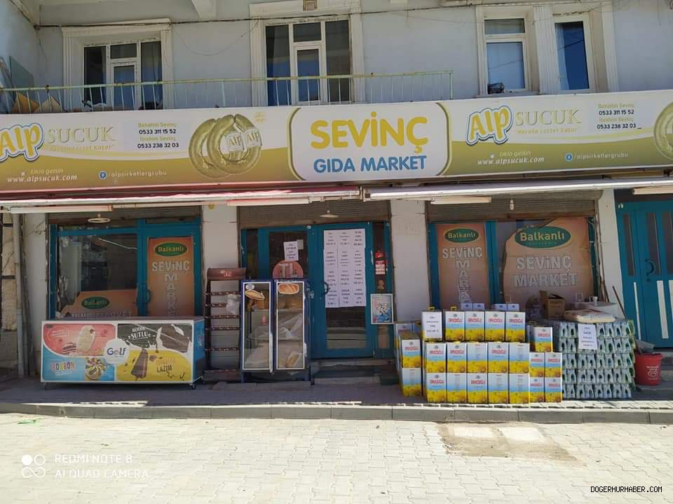 Sevinç gıda marketten 65 yaş üstüne evlere servis
