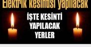 DİKKAT ELEKTRİK KESİNTİSİ VAR